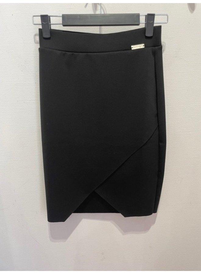 KK turtleneck drapped skirt (black)