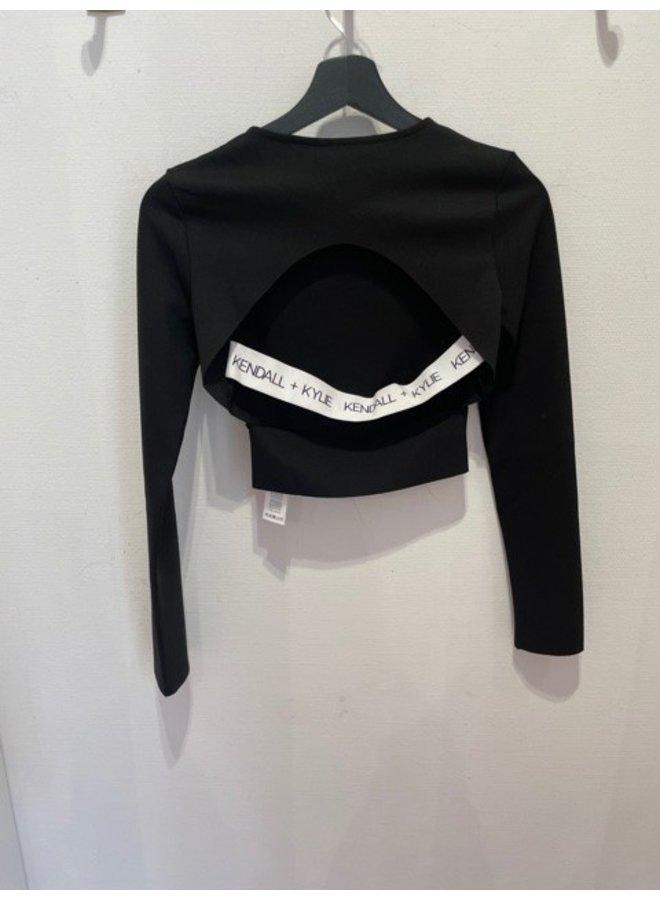 KK Turtleneck drapped top black