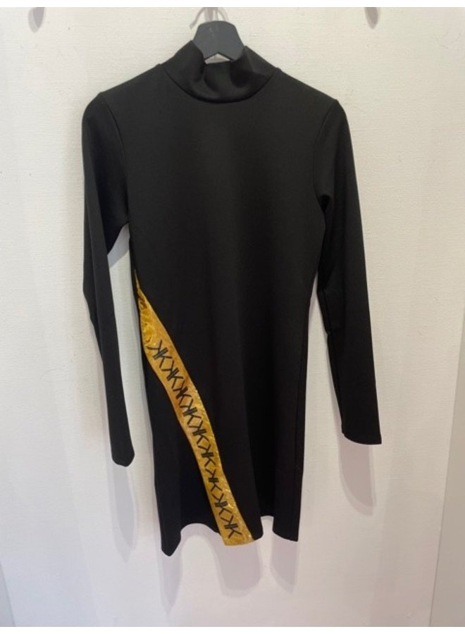 KK Turtleneck uneven dress (black)