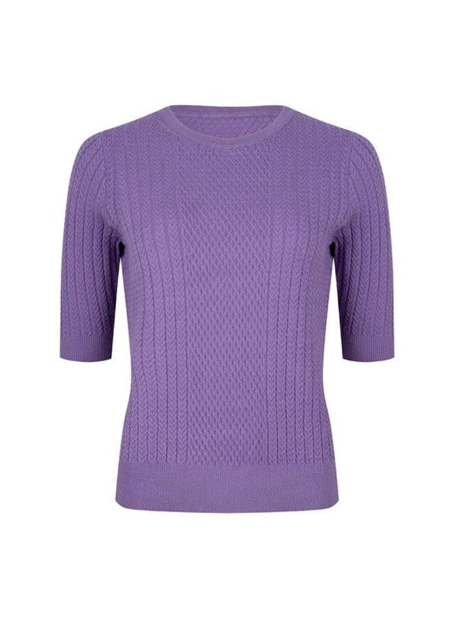 Sweater fancy knit (Purple)