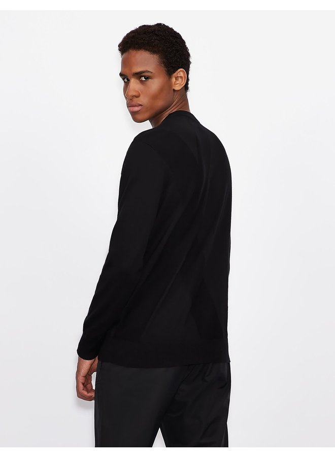 AX Knitted Pullover Black