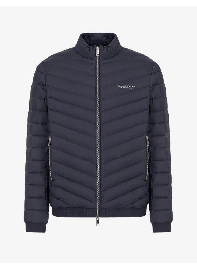 AX Woven Down Jacket Navy/Melange Grey