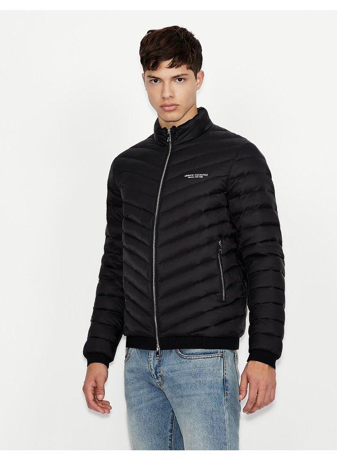 AX Woven Down Jacket Black/Melange