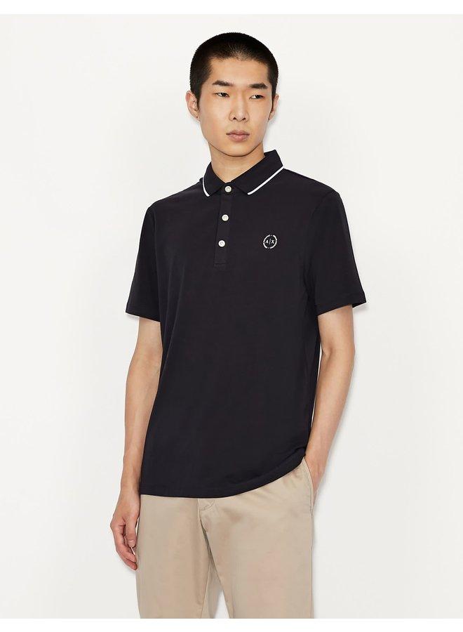 AX Jersey Polo Shirt Navy