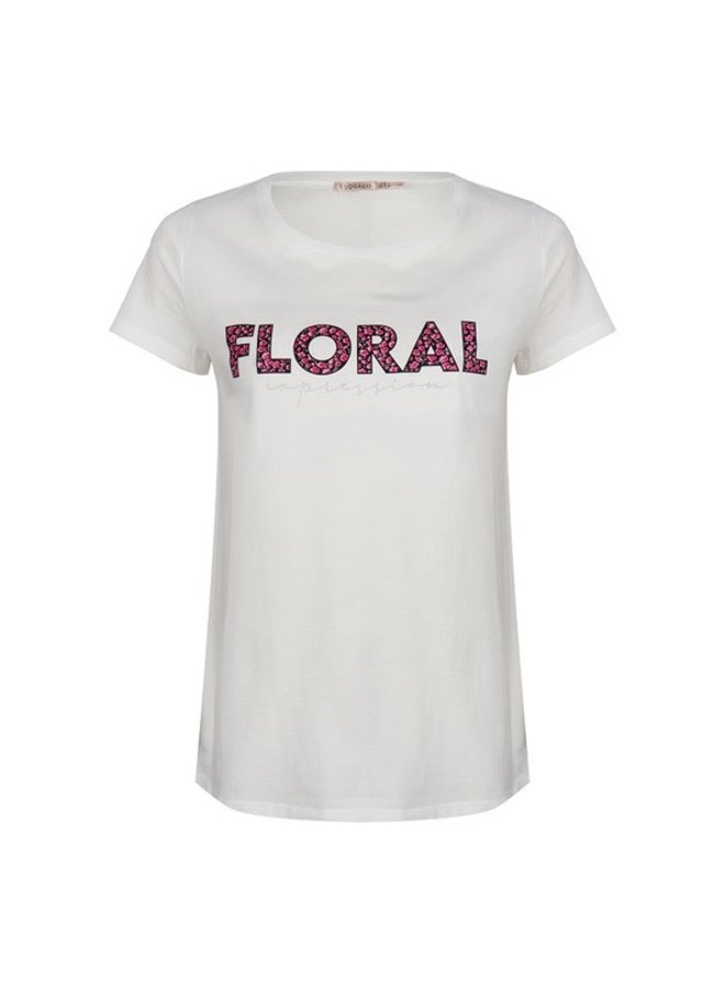T-shirt floral expression