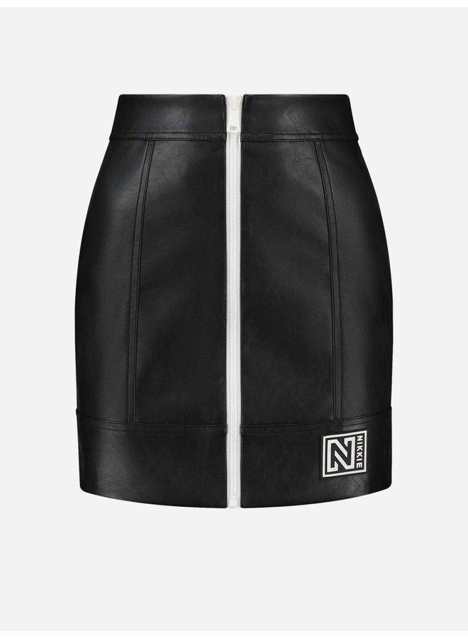 Mona patch skirt (Black)