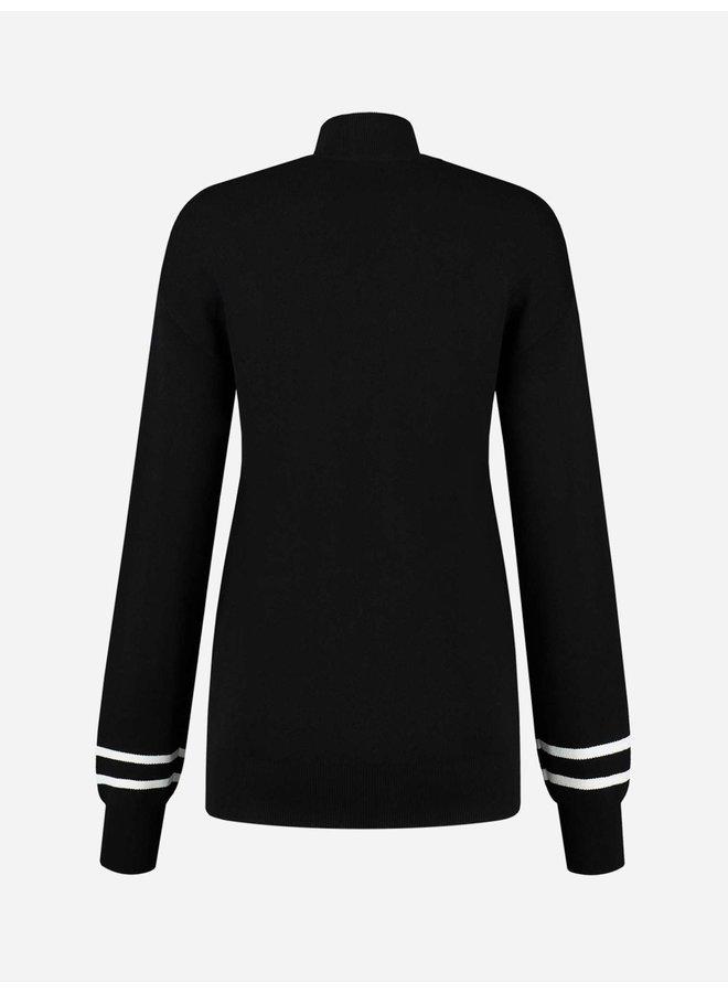 Logo Patch sweater (Black)