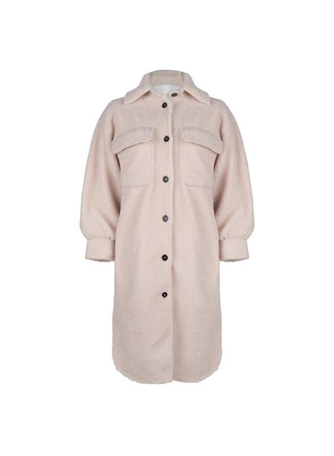 Coat long teddy Off White