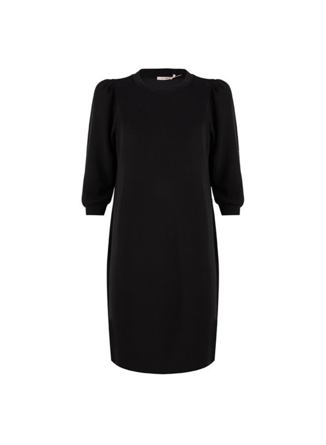 Dress puff sleeve modal Black