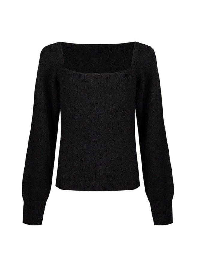 Sweater balcony neck Black