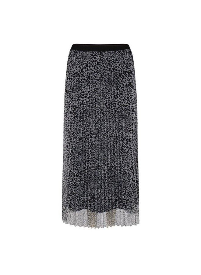 Skirt plisse mesh cheetah print