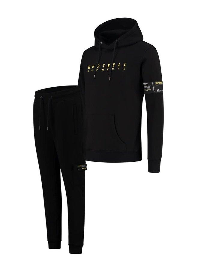 Aruba Hoodie + Pants Black/Yellow