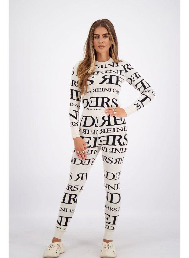 Reinders pants all over print (Creme)