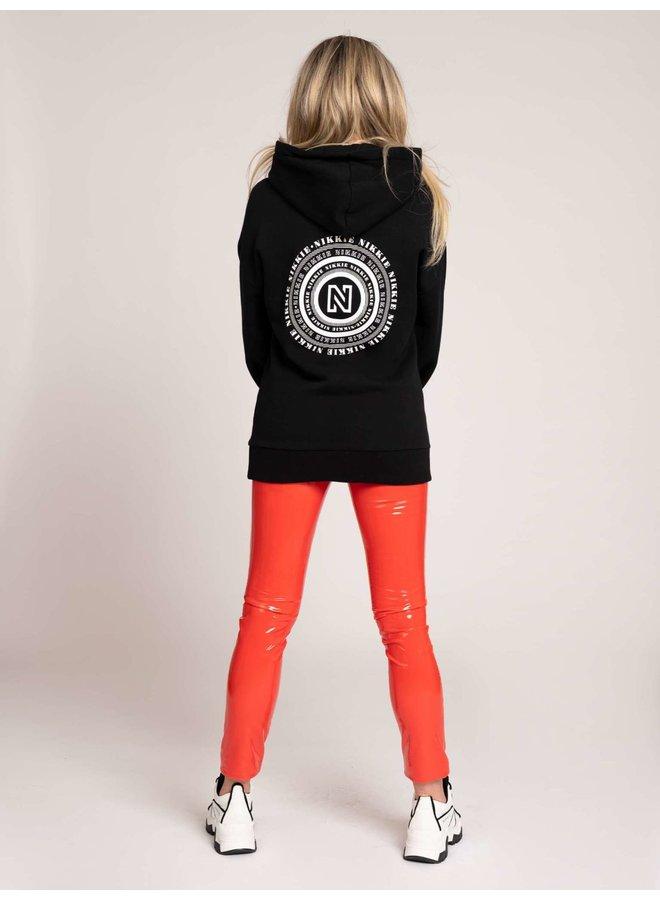 NIKKIE maze hoodie (Black)