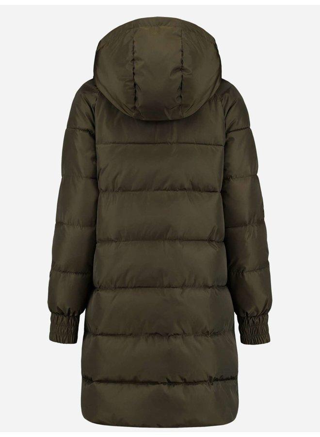Alli puffer coat (forest)
