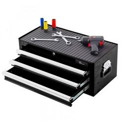Boîte à outils Ragnor à 3 tiroirs - noir