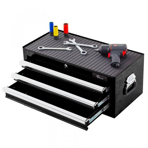 Ragnor Ragnor gereedschapskist met 3 laden - zwart
