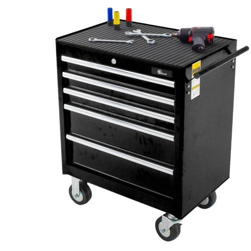 Ragnor Chariot à outils Ragnor 5 tiroirs - noir
