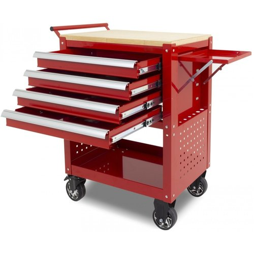 Ragnor Ragnor verrijdbare gereedschapstrolley 4 lades - rood