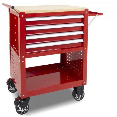 Ragnor Chariot à outils mobile Ragnor 4 tiroirs - rouge