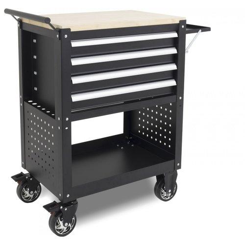Ragnor Chariot à outils mobile Ragnor 4 tiroirs - noir
