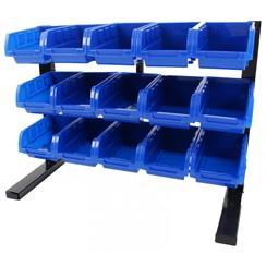 Système de bacs de stockage avec 15 bacs - Ragnor