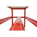 Ragnor Werkbank met bamboe werkblad Ragnor rood - 150cm
