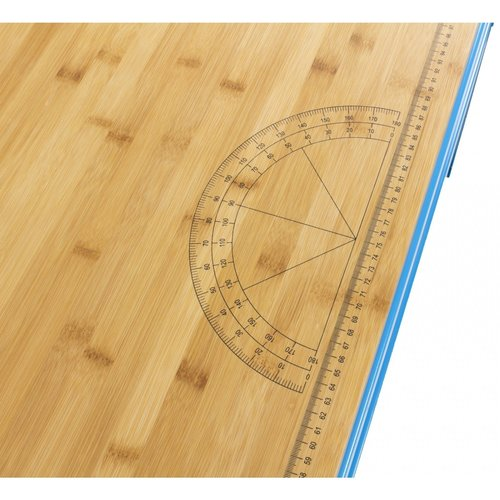 Ragnor Etabli avec plan de travail en bambou Ragnor bleu - 150cm