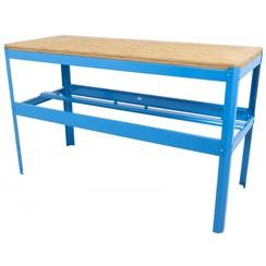 Werkbank met bamboe werkblad blauw - 150cm Ragnor