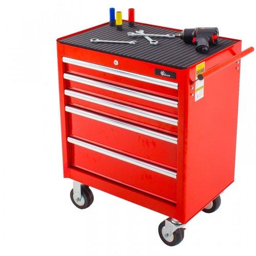 Ragnor Ragnor gevulde gereedschapswagen 8 lades 110-delig - rood