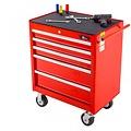 Ragnor Chariot à outils rempli de Ragnor 5 tiroirs 110 pièces - rouge