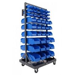 Système de stockage mobile avec 78 bacs de stockage Ragnor