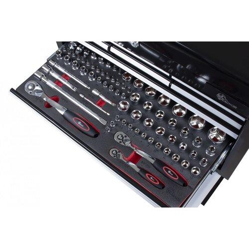 Ragnor Ragnor gereedschapswagen 113-delig zwart - rood gereedschap
