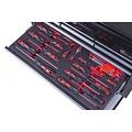 Ragnor Chariot à outils Ragnor 113 pièces noir - outil rouge