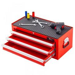 Boîte à outils Ragnor à 3 tiroirs - rouge