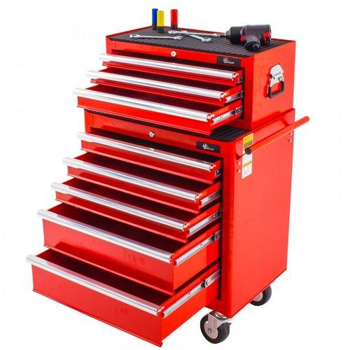 Ragnor Ragnor gereedschapswagen set 8 laden - rood
