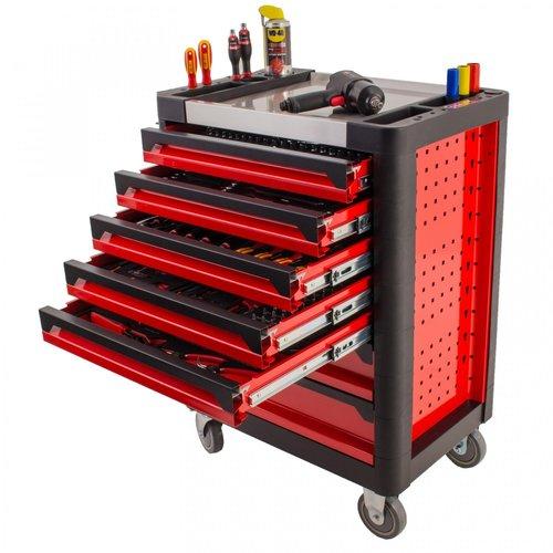 """Ragnor Gevulde gereedschapswagen """"Exclusive"""" Ragnor 205-delig (rood)"""