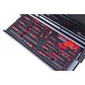 Ragnor Boîte à outils Ragnor 113 pièces noir avec 9 tiroirs