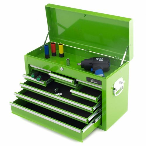Ragnor Ragnor gereedschapskist met 9 laden - groen