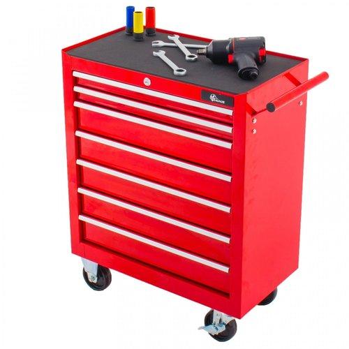 Ragnor Ragnor gereedschapswagen 7 laden - rood