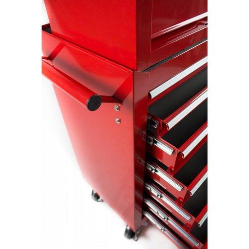 Ragnor Chariot à outils Ragnor avec coffre supérieur - rouge