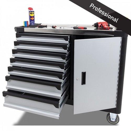 Ragnor Extra brede gereedschapswagen grijs met 235-delig Ragnor