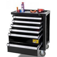 """Chariot à outils rempli """"Ragnor Professional Line"""" 6 tiroirs remplis noir"""