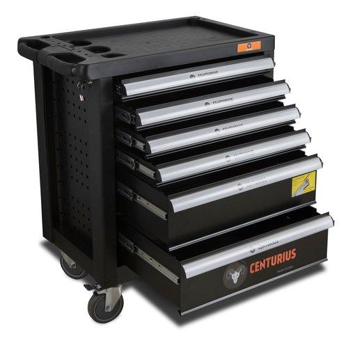 Centurius Chariot à outils Centurius 6 tiroirs vide - Orange Line