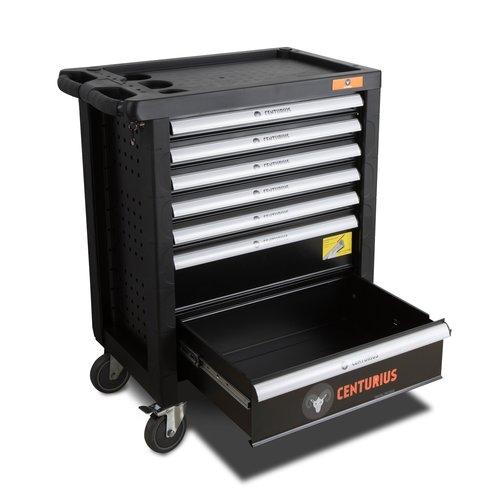 Centurius Chariot à outils Centurius 7 tiroirs vide - Orange Line