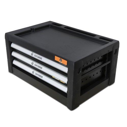 Centurius Boîte à outils Centurius 3 tiroirs vides - Ligne Orange