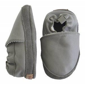 MELTON leren baby schoentjes grey