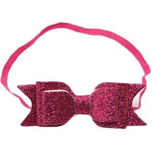 haarbandje met glitterstrik pink
