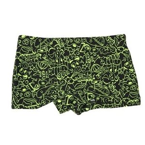 LENTIGGINI Zwemshort black neon yellow