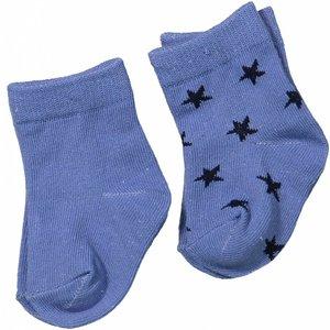 DIRKJE BABYKLEDING Dirkje baby sokjes basics blue melee